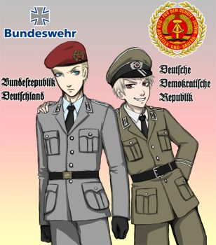 Hetalia: Bundeswehr and NVA by PunPuniChu