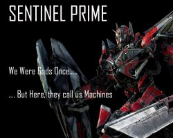 Sentinel Prime Wallpaper by Lordstrscream94