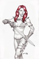 RED SONJA !!! by carlosbragaART80