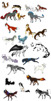 All My Charas Part 1 Wolves by WierkaKita
