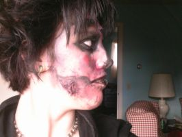Zombie Makeup Experiment 2.2 by Vashthestampede9166