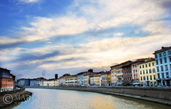 As the Sun Sets on Pisa, Italy by renaboo