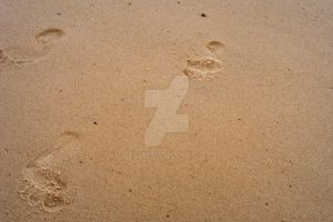 Footprints in the Sand by lilyzoe07