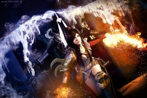 Diablo III Cosplay Malthael and Wizard by BeItUkI