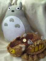 Totoro Plush Commission by P-isfor-Plushes
