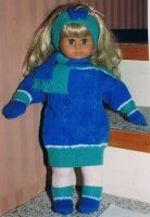Blue outfit for baby doll by ToveAnita