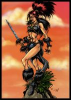 Colored Raoa pinup by Keu Cha by tZuB
