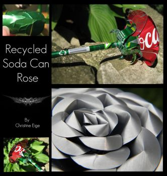 Soda Can Rose - Full View by Christine-Eige
