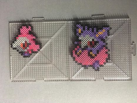 #682-#683 Spritzee and Aromatisse Perlers by TehMorrison
