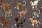 Adoptables [5 Points Each] by melancholxyz