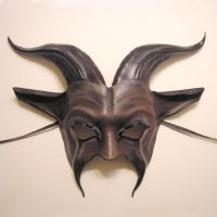 Leather Horned Goat Mask by teonova