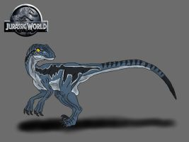 Jurassic World: Blue the Velociraptor by TrefRex