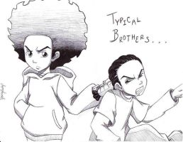 Typical Brothers by The-Boondocks-Crew