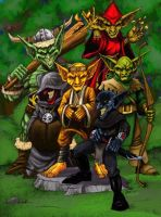 Da Goblin Krew by HarshRealities