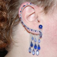 Bold sapphire ear wrap- SOLD by YouniquelyChic