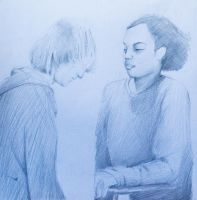 Life drawing of 2 people by shnbwmn