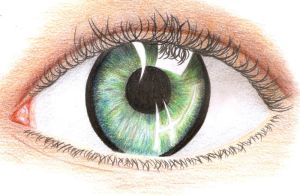Green Eye Drawing by thekookyartist