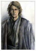 Anakin Skywalker - A Portrait by leiaskywalker83