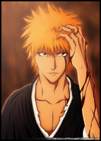 Ichigo badass face by Law67