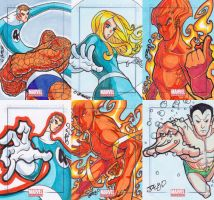 Marvel Universe 2011 sketch cards Fantastic Four by JoeOiii