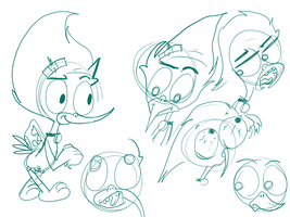 Neddy Sketches by TheSirKnite