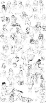 Pencil Sketches Part 1 by celor