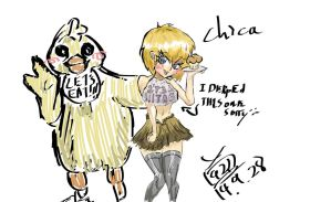Five Nights At Freddys # Chica by Milkitalix