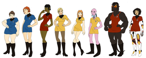 NuTrek Enterprise Crew 2.0 by AlexKingOfTheDamned
