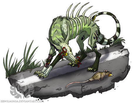 Spoopidog Raffle Prize - Decay and the Rat by ErwilMinsa