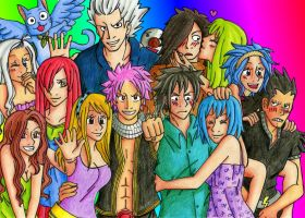 And now everyone: Fairy Tail by MrsJuliaNanba