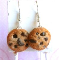 Chocolate Chip Cookie Earrings by LittleSweetDreams