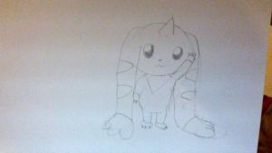 Terriermon WIP by Meowstic-45