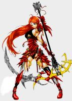 Red armored warrior by franja2190