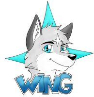 Wing Wolf - Art/Badge by wingwolf88