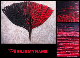 Red and Black Double Enders for Emma by vailismyname