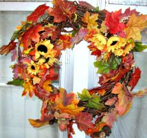 Fall wreath by bewilderedconfused