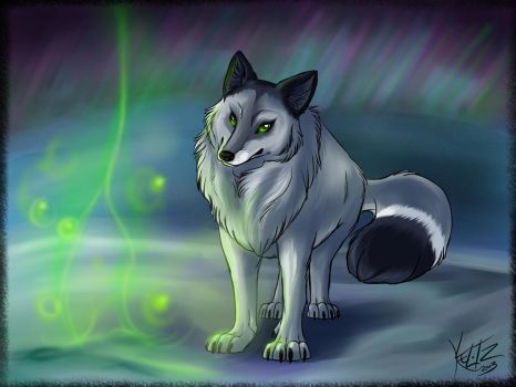 Dark Arctic Fox by Senshee