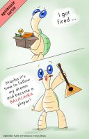 Optimistic Turtle chases his dreams by solray-chan