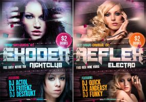 Exoden PSD Nightclub Party Flyer Template by quickandeasy1
