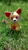 Fennekin Ceramic Painting by craftysorceress