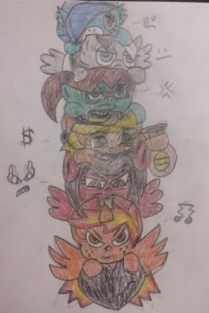 The Marelovent Six chibi by TobiIsABunny