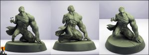 Hulk Transformation by AYsculpture
