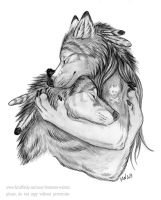 Even big bad wolves sometimes needs cheering up by Vlcek