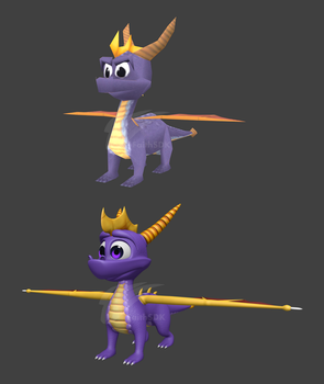 Retro and Remastered Spyro by FaithSDK