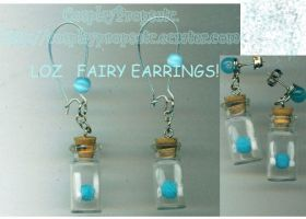LOZ Fairy earrings Sample Blue by CosplayPropsEtc