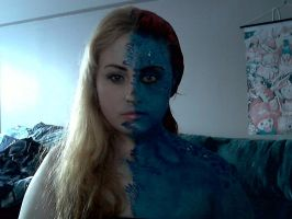 Mystique facepaint by Blueberrystarbubbles