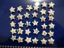 Paper Star faces by Drixi