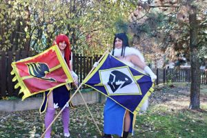 Erza Scarlet and Minerva Fairy tail by Jacindazs