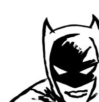 Black and White Batman by Indexenos