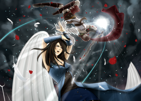 ROUND 1: Rinoa vs Lightning by aeriim